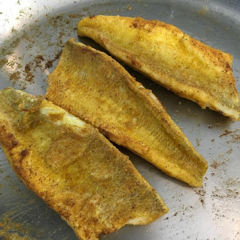 Pan Frying Spicy Fish