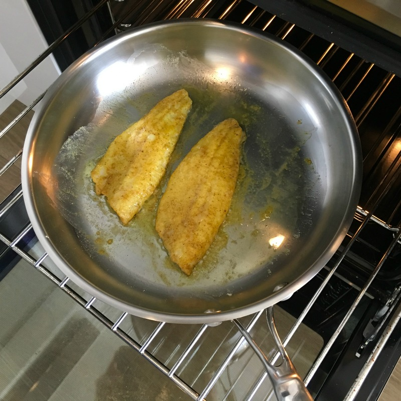 Oven Baking Spicy Fish