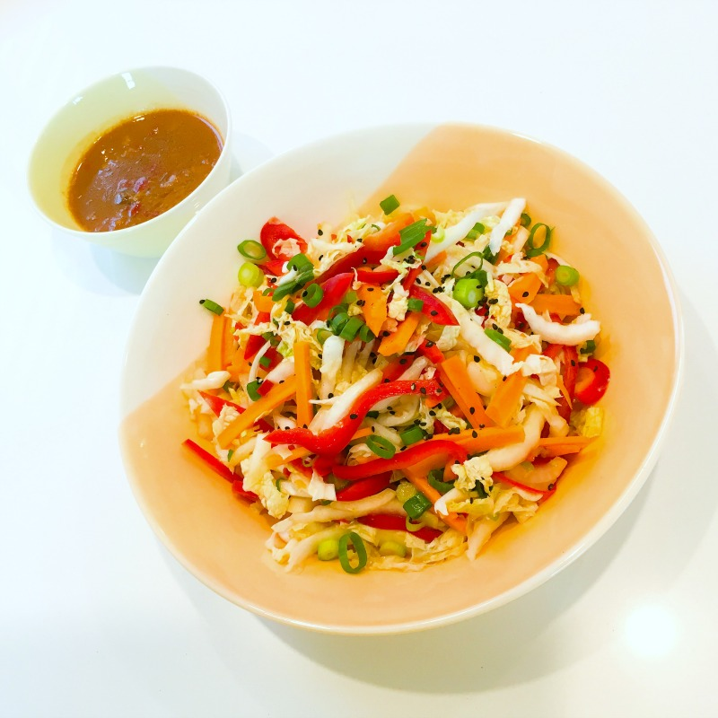 Chinese Slaw with Miso Lime & Chilli Dressing