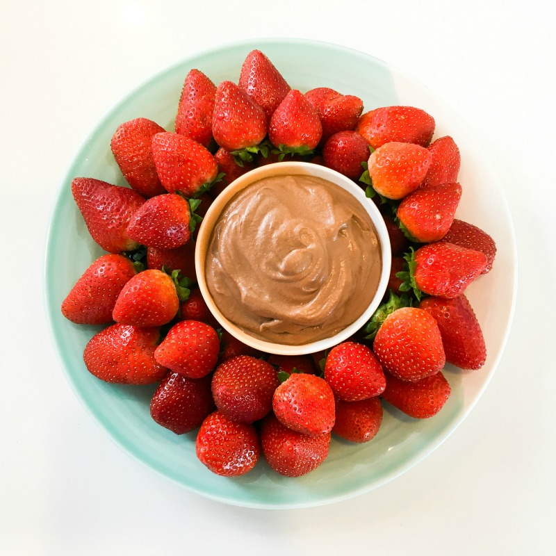 Strawberries with Choc Cashew Dipping Sauce