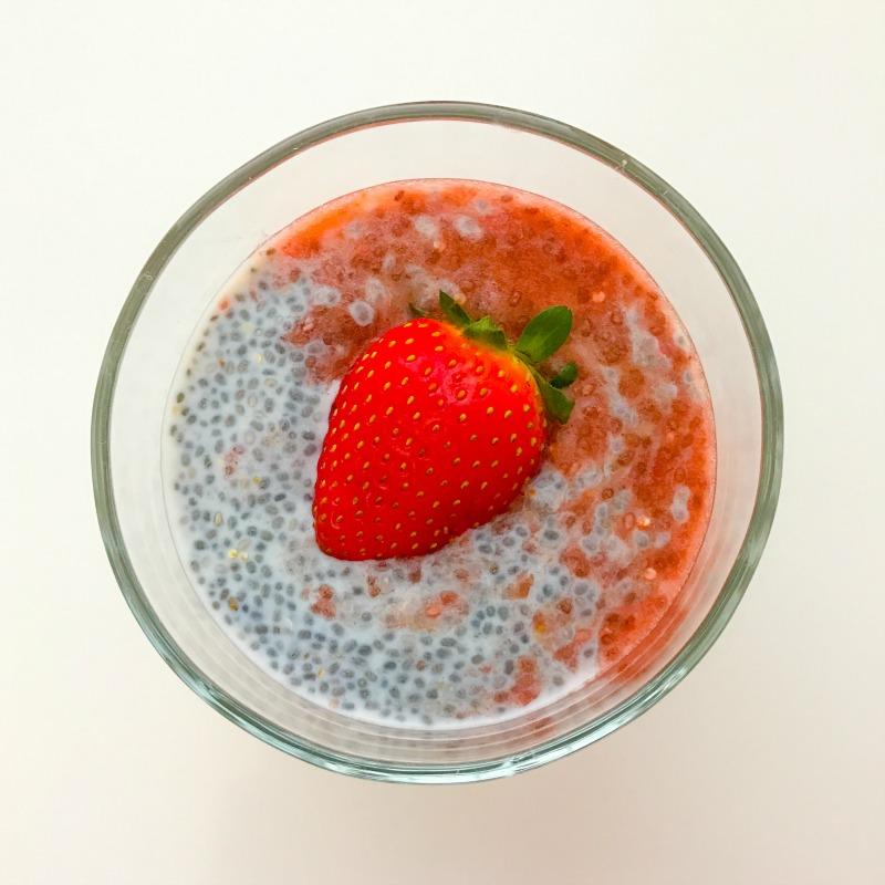 Strawberry Ripple Chia Porridge