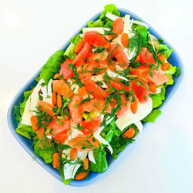 Ruby Grapefruit, Fennel, Avocado & Dill Salad