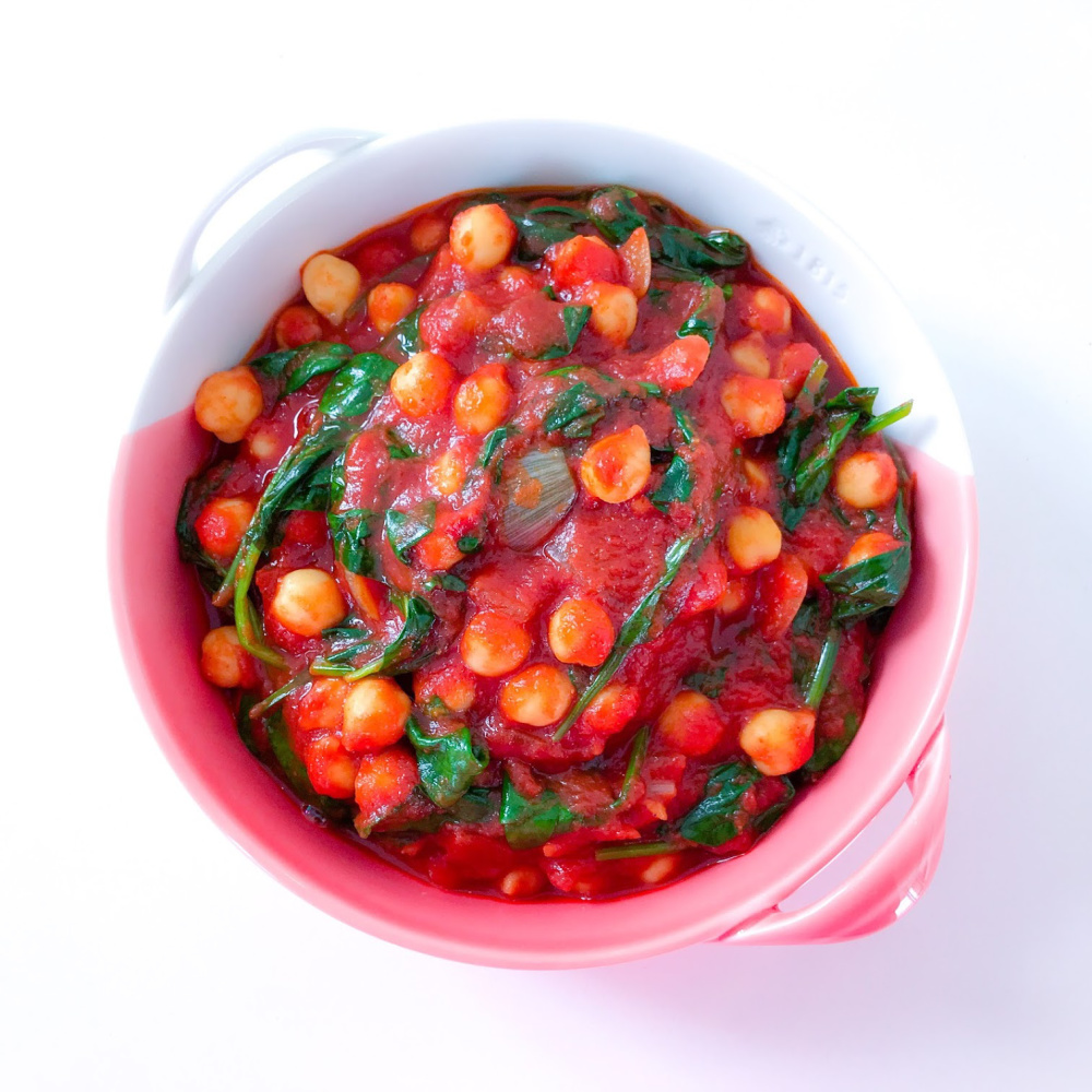 Garbanzos con Espinacas - Spanish Chickpeas with Spinach