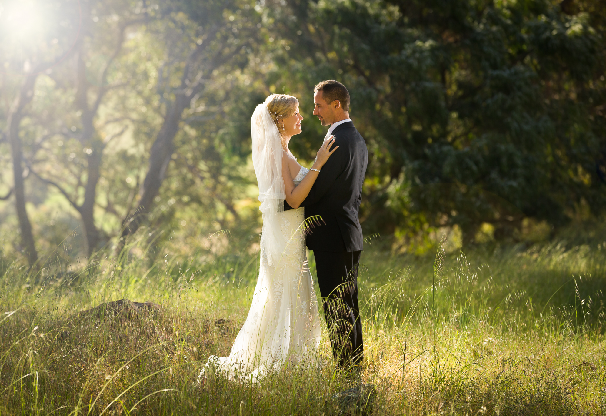 Premier Portrait and Wedding Photographer captured here a lovely bride and groom portrait down south in Yallingup, Western Australia