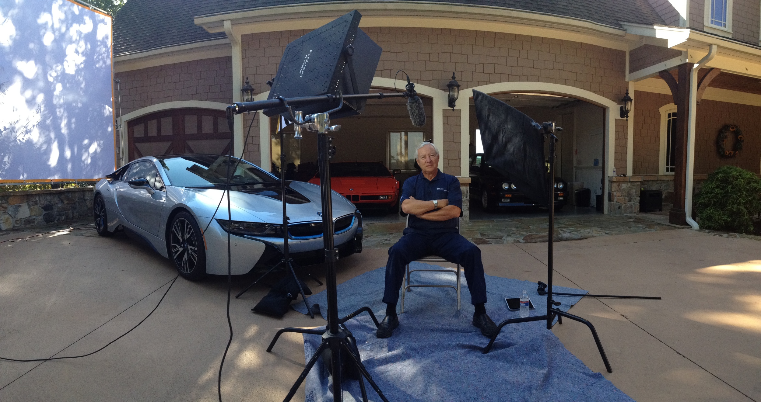 BTS of the BMW i8 interview