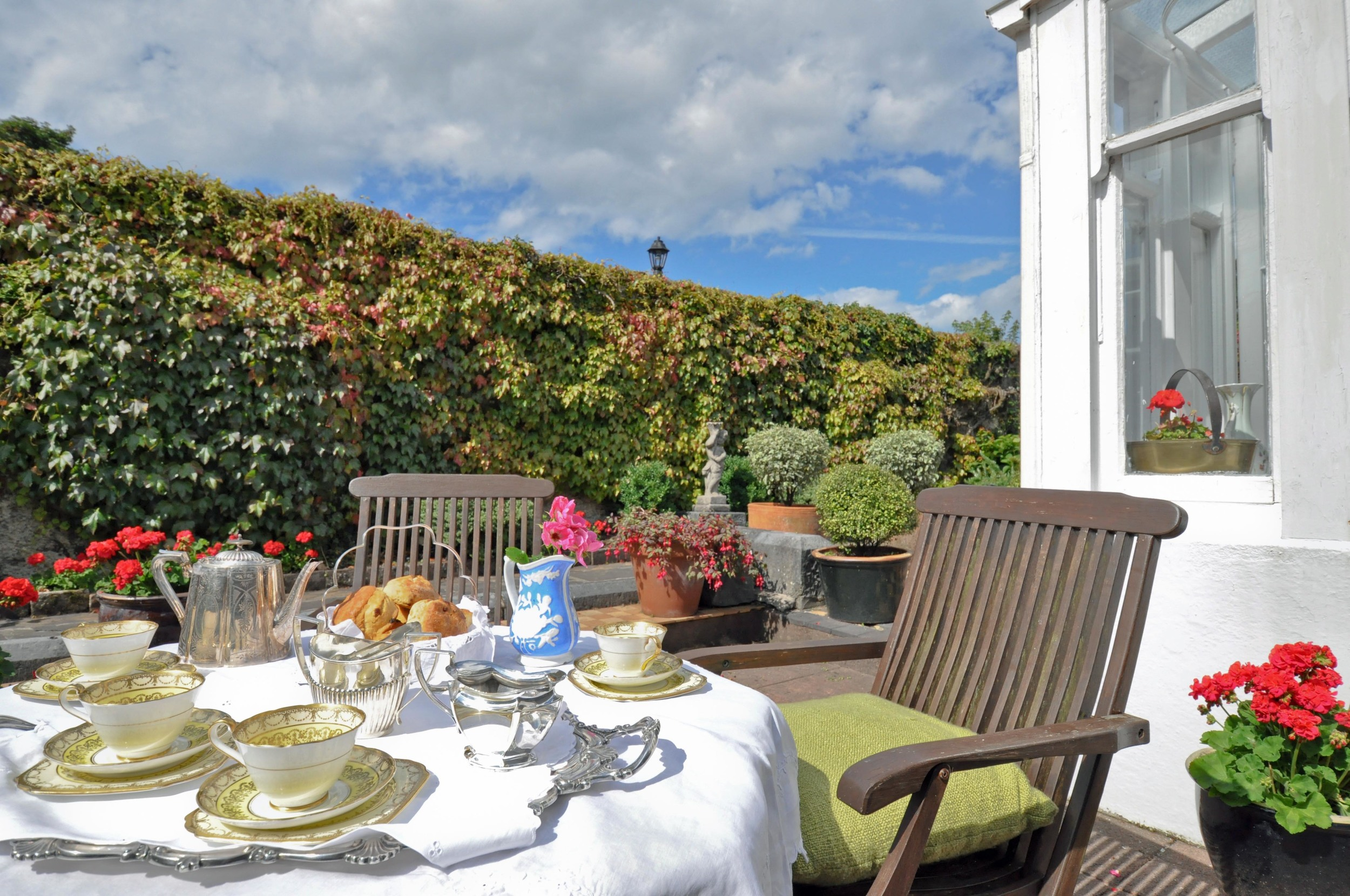 High Tea in outdoor private gardens Galway