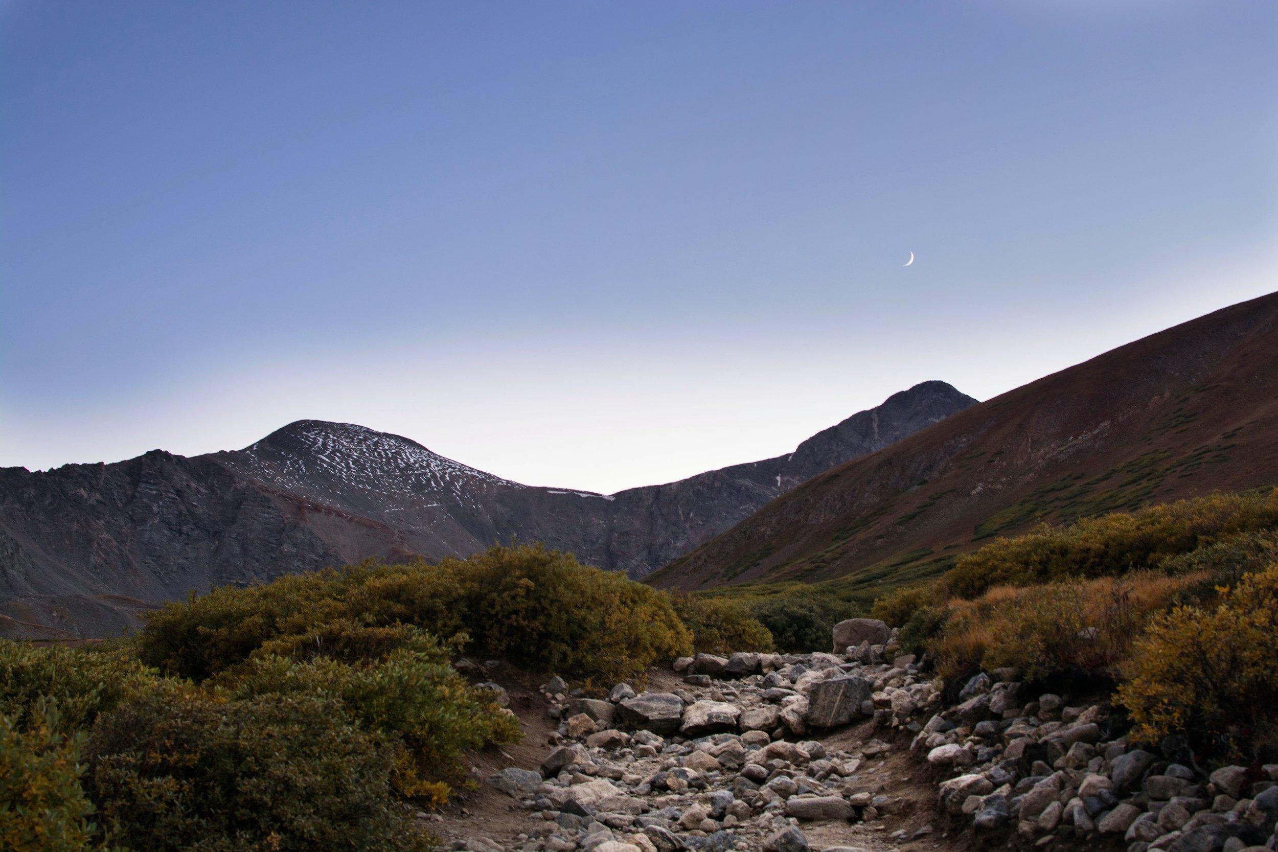 Gray's Peak on the left // Torrey's Peak on the right