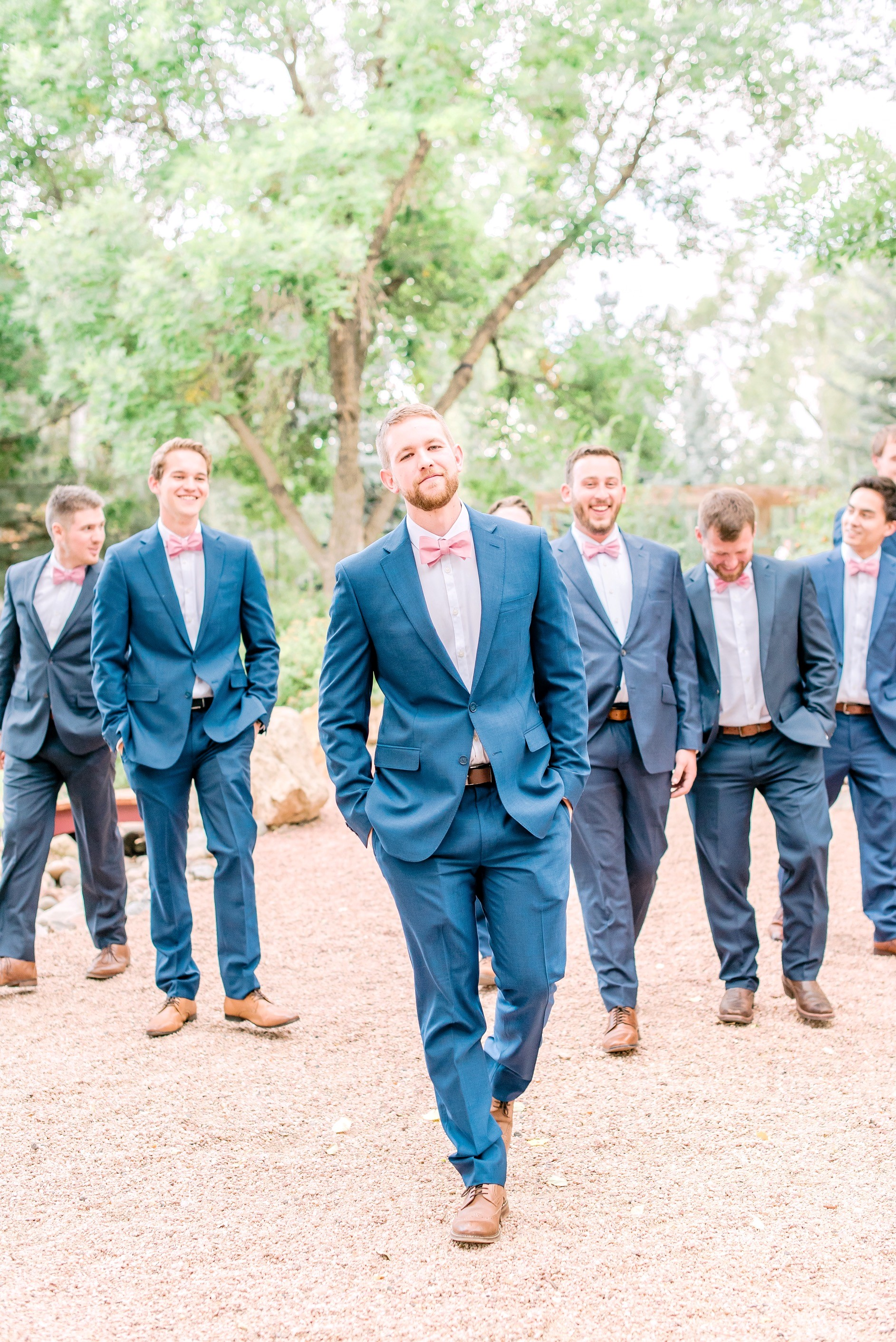must have groomsmen shots, navy blue groomsmen suits, colorado wedding photographer, englewood wedding photographer, greely wedding photographer