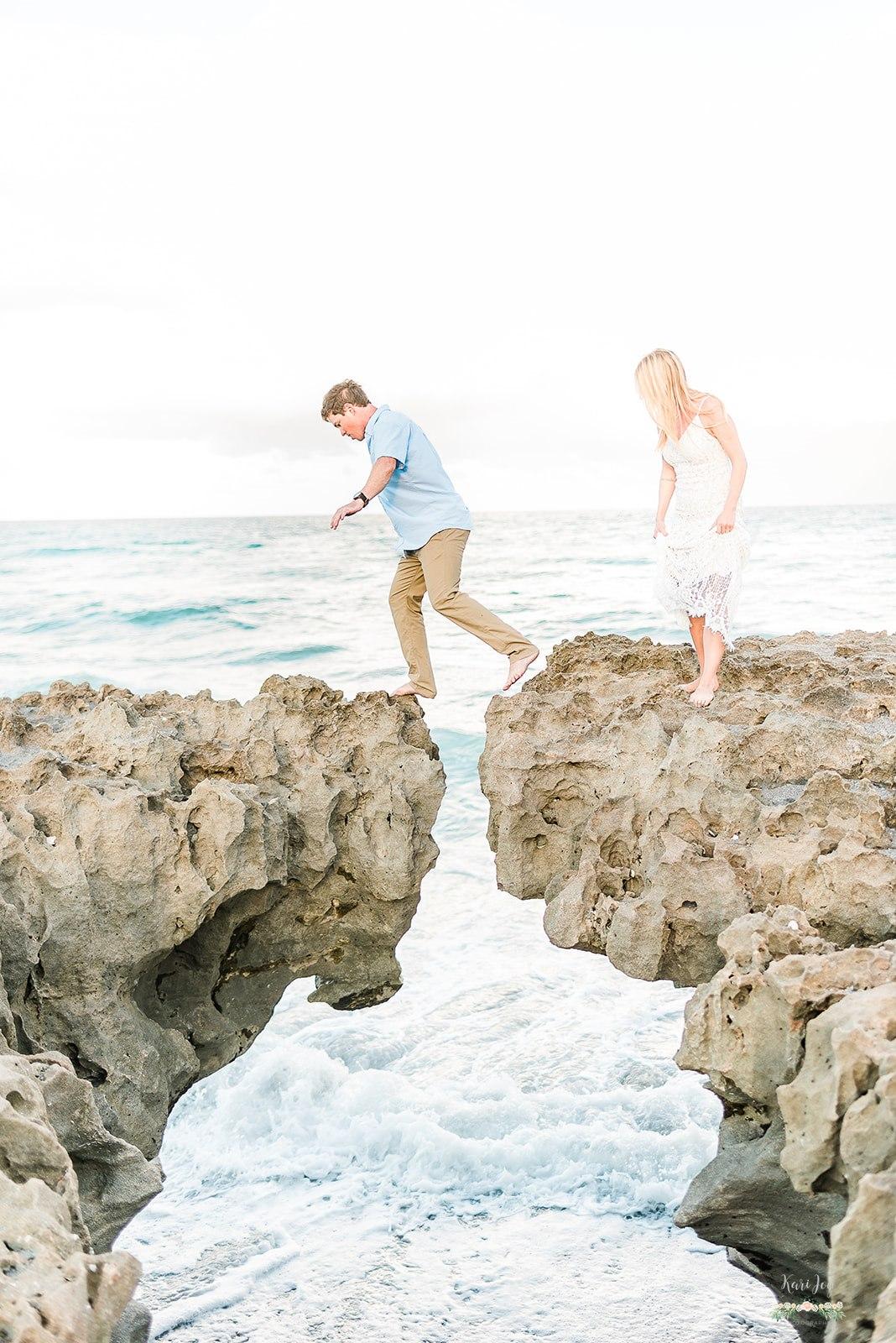 ocean engagement session, must have engagement photos, florida engagement session, destination wedding photographer