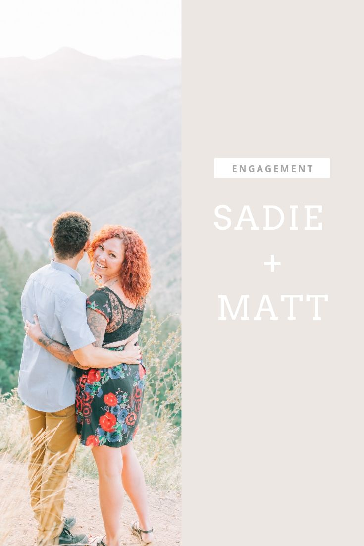matt and sadie engagement session in golden
