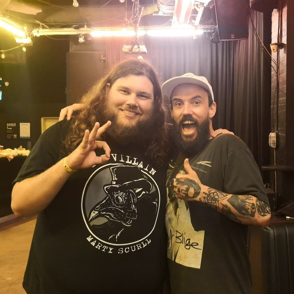 With previous guest Joe Talbot of IDLES in 2019.  Photo credit: Bree Wilkinson.