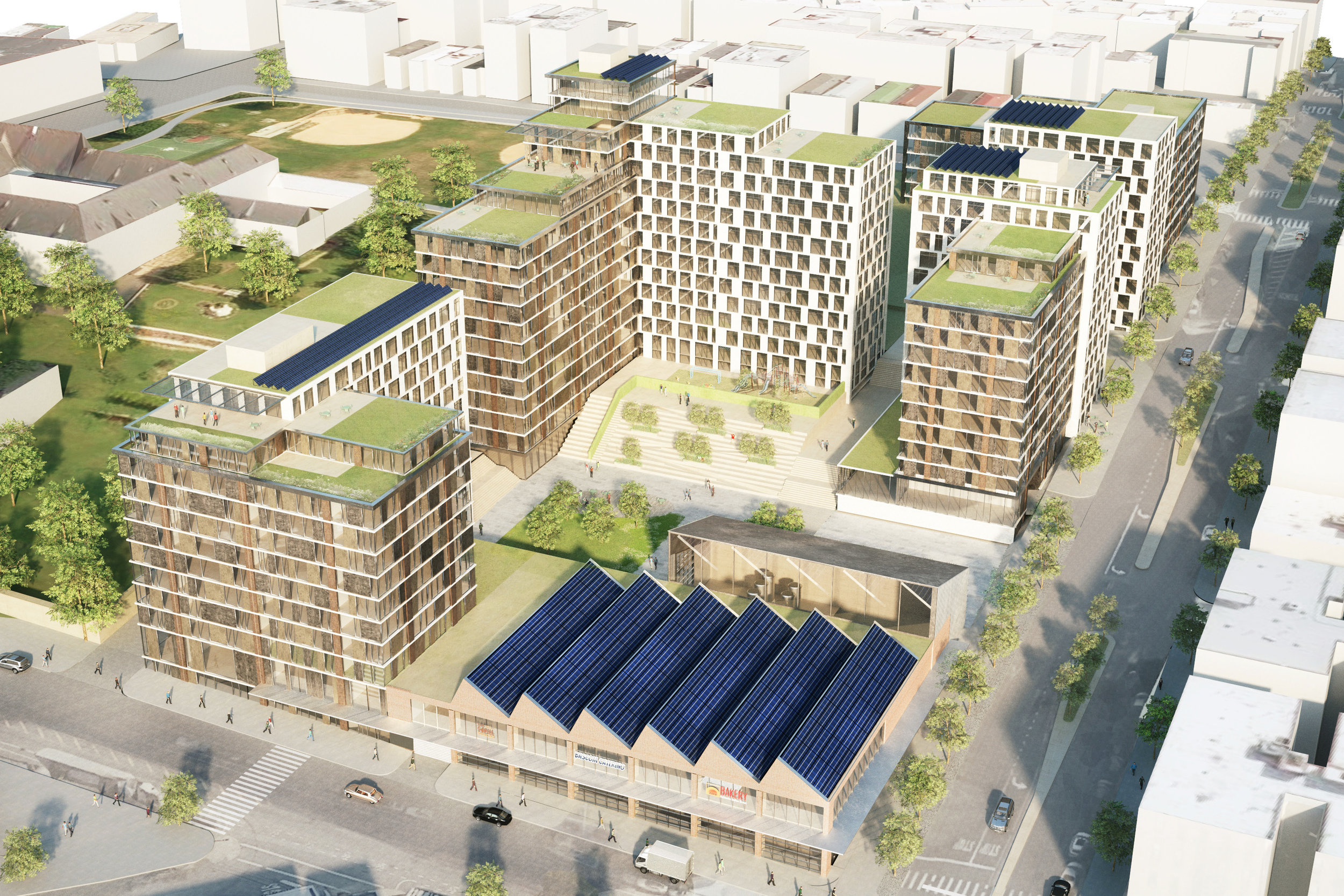 A rendering of the Peninsula (credit: WXY Architecture + Urban Design)