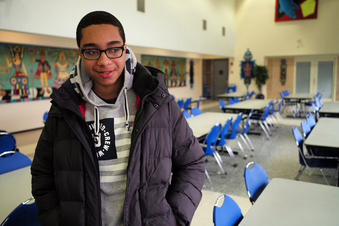 "Shaughn Bulgar, 18, a student at Hostos Community College and a Bronx resident, said, ""Fast food is usually the only thing around, so that's what I eat."" Credit Nicole Bengiveno/The New York Times"