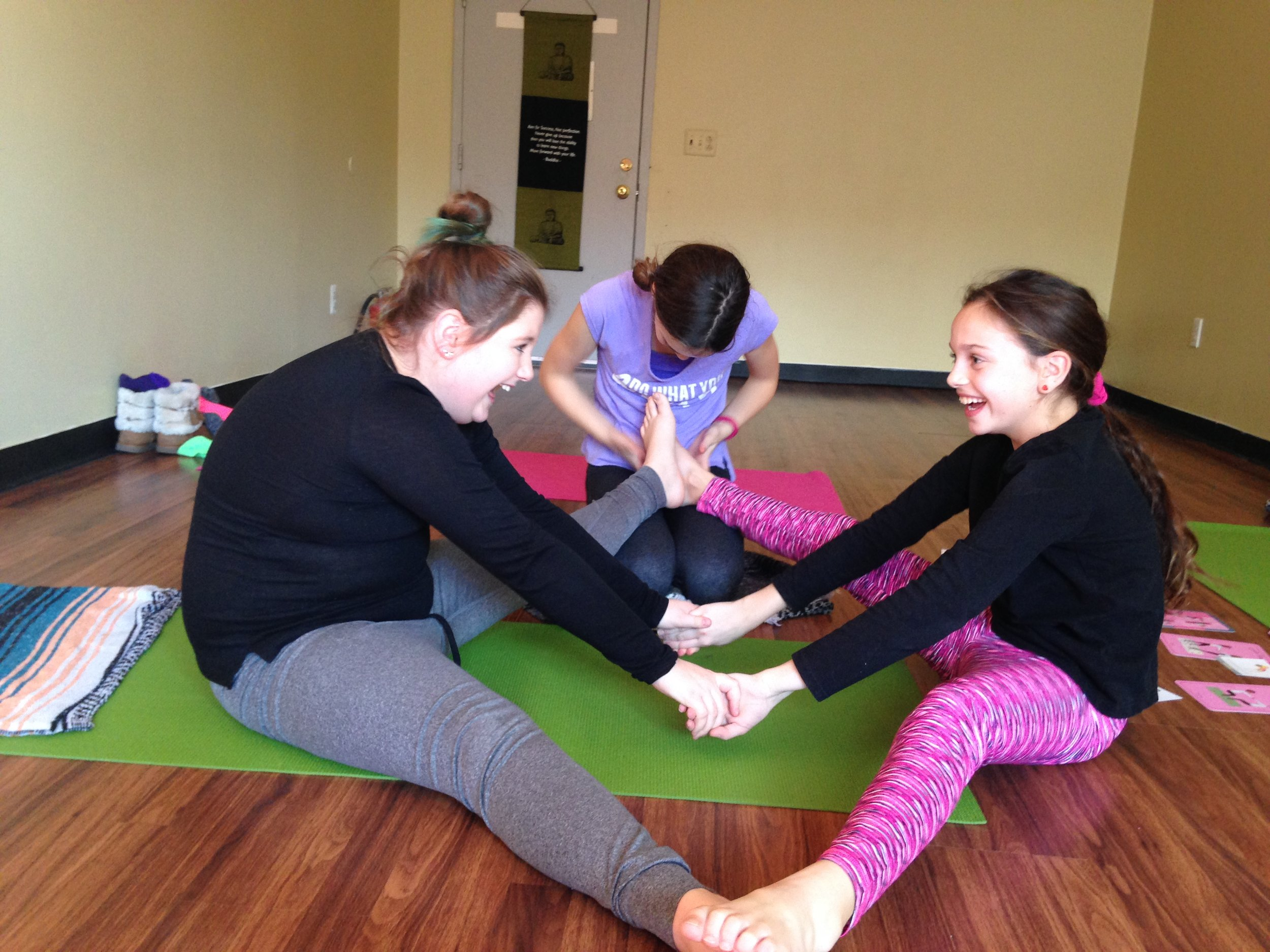 Look how much fun kids yoga is!