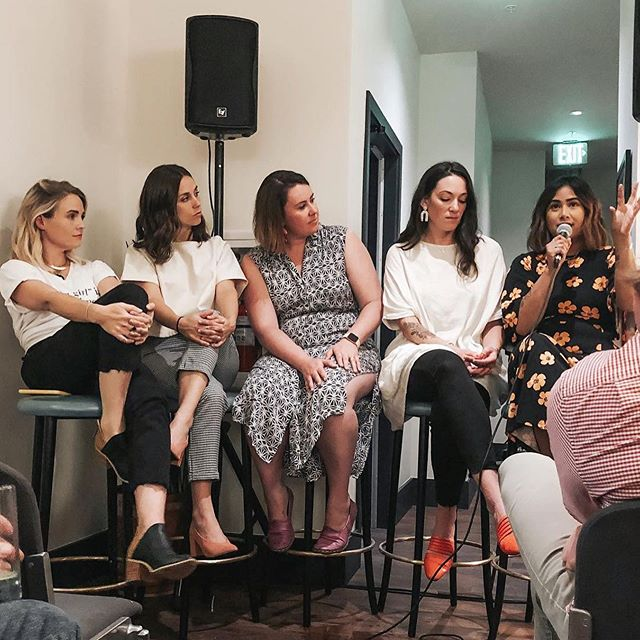 Still absorbing and processing all the meaningful conversations around the enneagram and how it manifests itself in how we run our businesses. You can't talk about the enneagram without getting super vulnerable and I'm so grateful for spaces like last night where it felt safe and powerful. I felt really honored to learn from these incredible women whose process and and experience are so different from mine. As a solo entrepreneur it was also such a gift to get to verbally process my own journey of self-awareness and running a business. A massive thank you to @yellowco.co for hosting such a sacred night and to @a.s.coaching for facilitating such a beautiful conversation. And to @lizbohannon for making it even easier for the vulnerability to flow freely.👌🏼 Photo magic: @laura_beavis