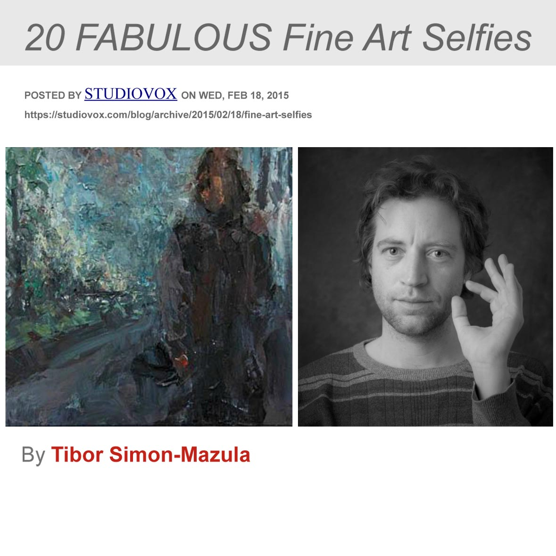 """""""20 FABULOUS Fine Art Selfies,"""" STUDIOVOX .com, February 18, 2015, United States"""