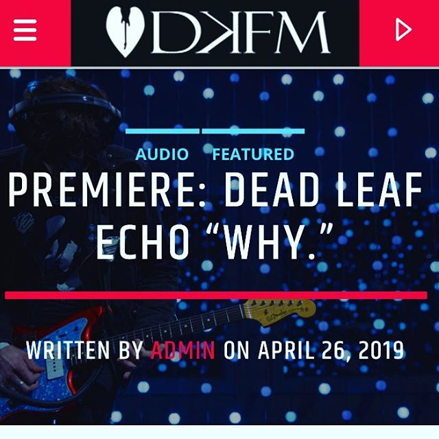 "New Song premiere ""Why."" on DKFM Shoegaze Radio ""Shades of Slowdive and Low permeate on this never before released bonus track from the reissue of ""Pale Fire""  Release party tomorrow at Sunnyvale in Brooklyn. #songpremiere #shoegaze #dkfm #radio"
