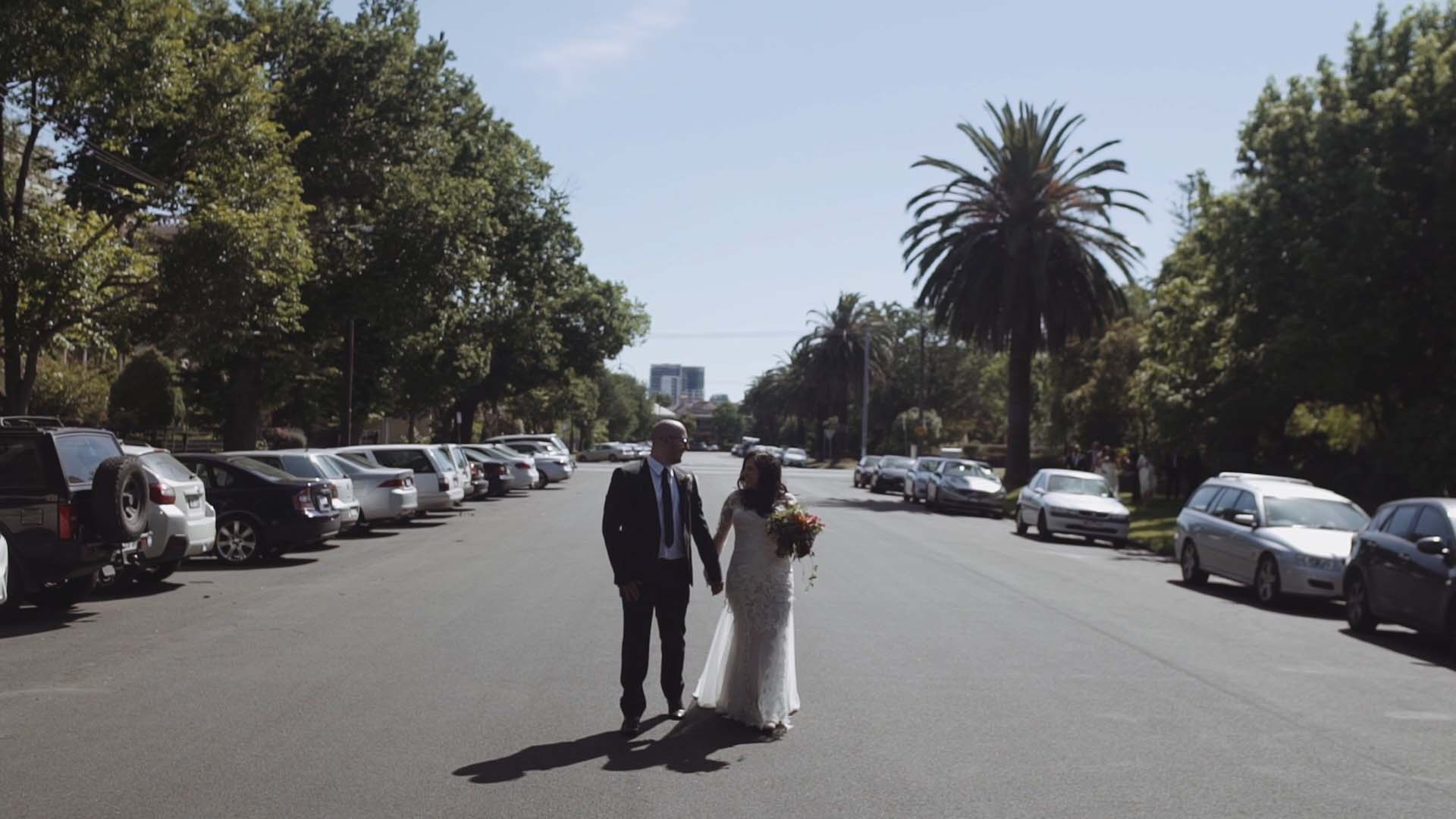 anthony and justine wedding videography melbourne