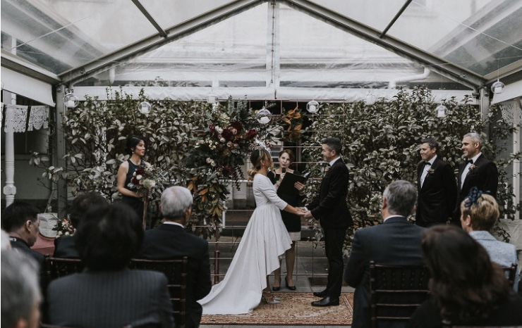 in marquee melbourne marriage celebrant