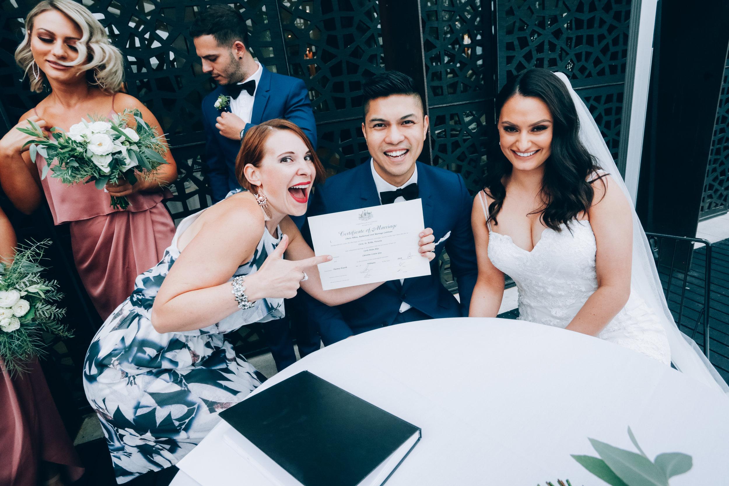 fun shot melbourne marriage celebrant