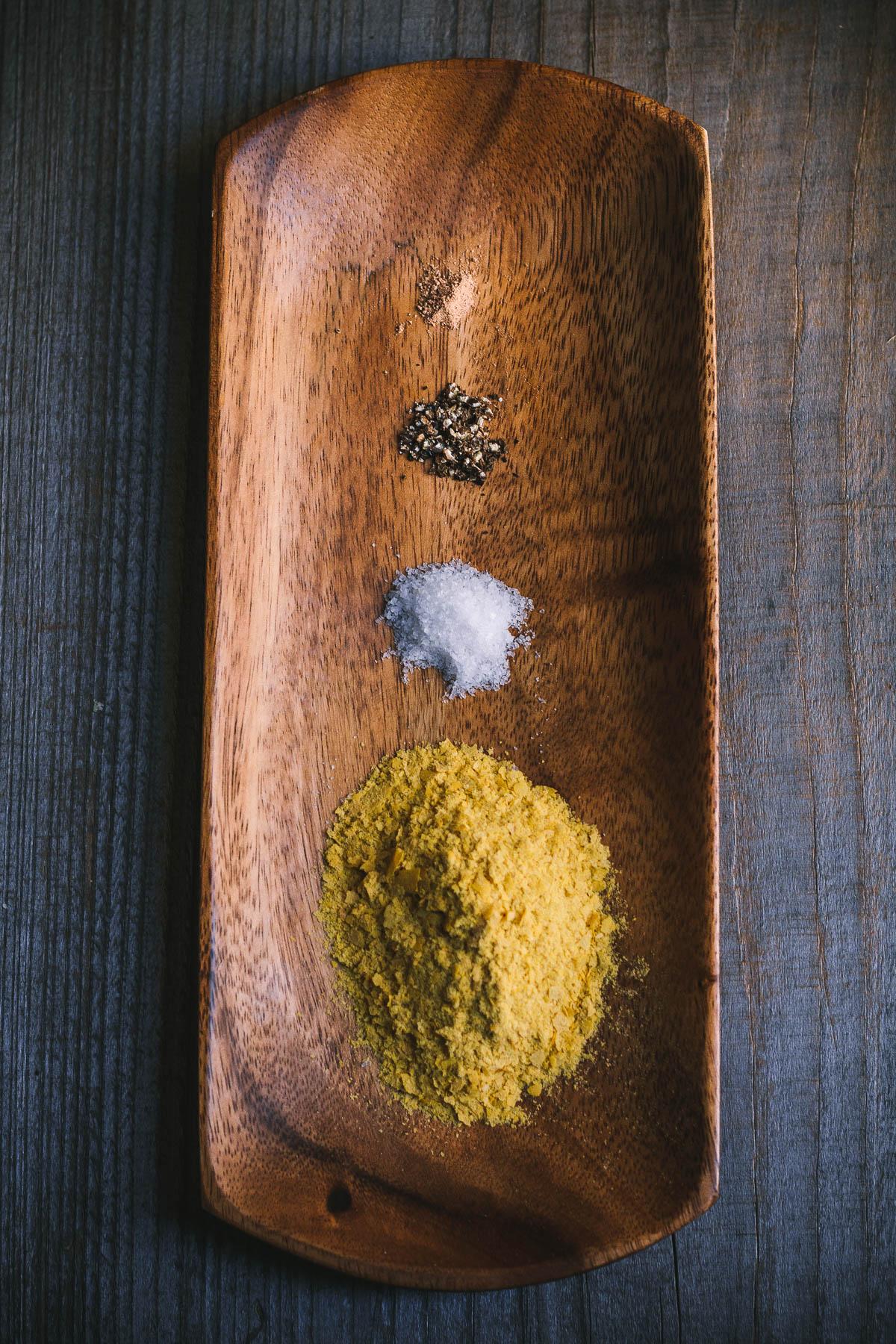 mississippi vegan chanterelle pasta-5778 nutritional yeast. salt. pepper. nutmeg.JPG