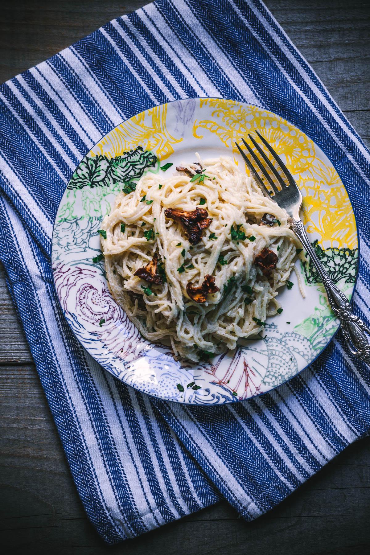 mississippi vegan chanterelle pasta-5826 plated pasta.JPG