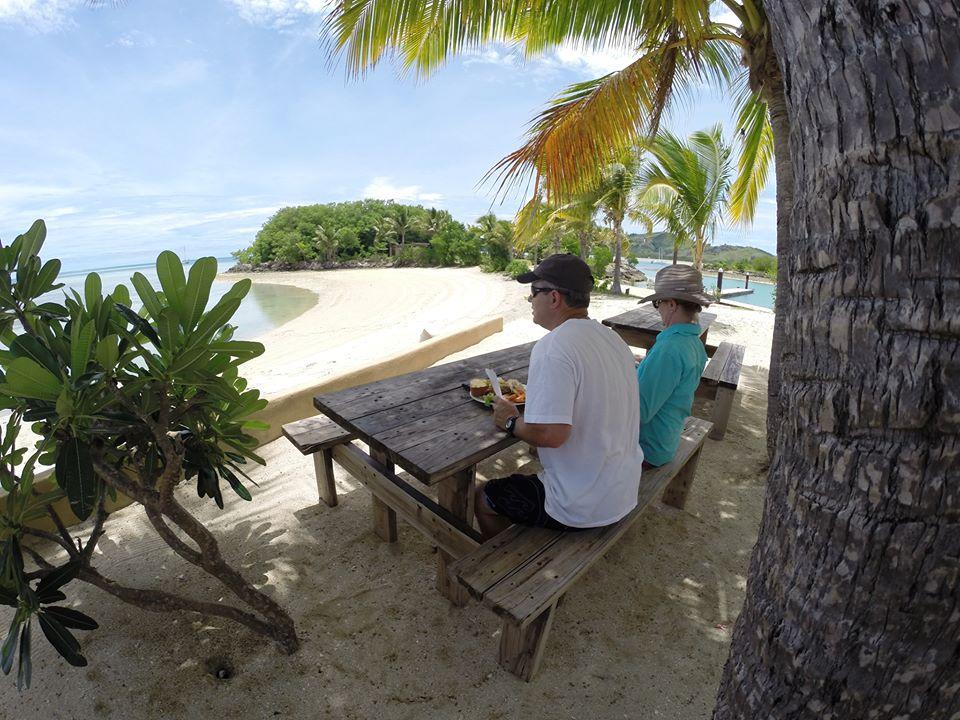 Enjoy lunch on the island.