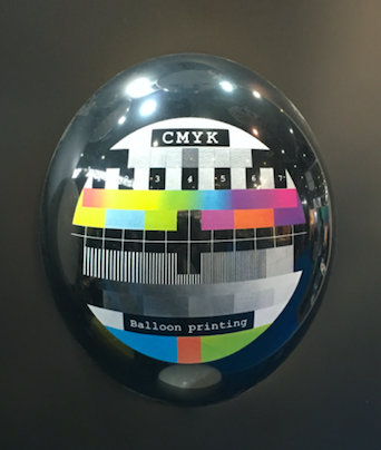 CMYK printing on a balloon - print anything you like to celebrate!