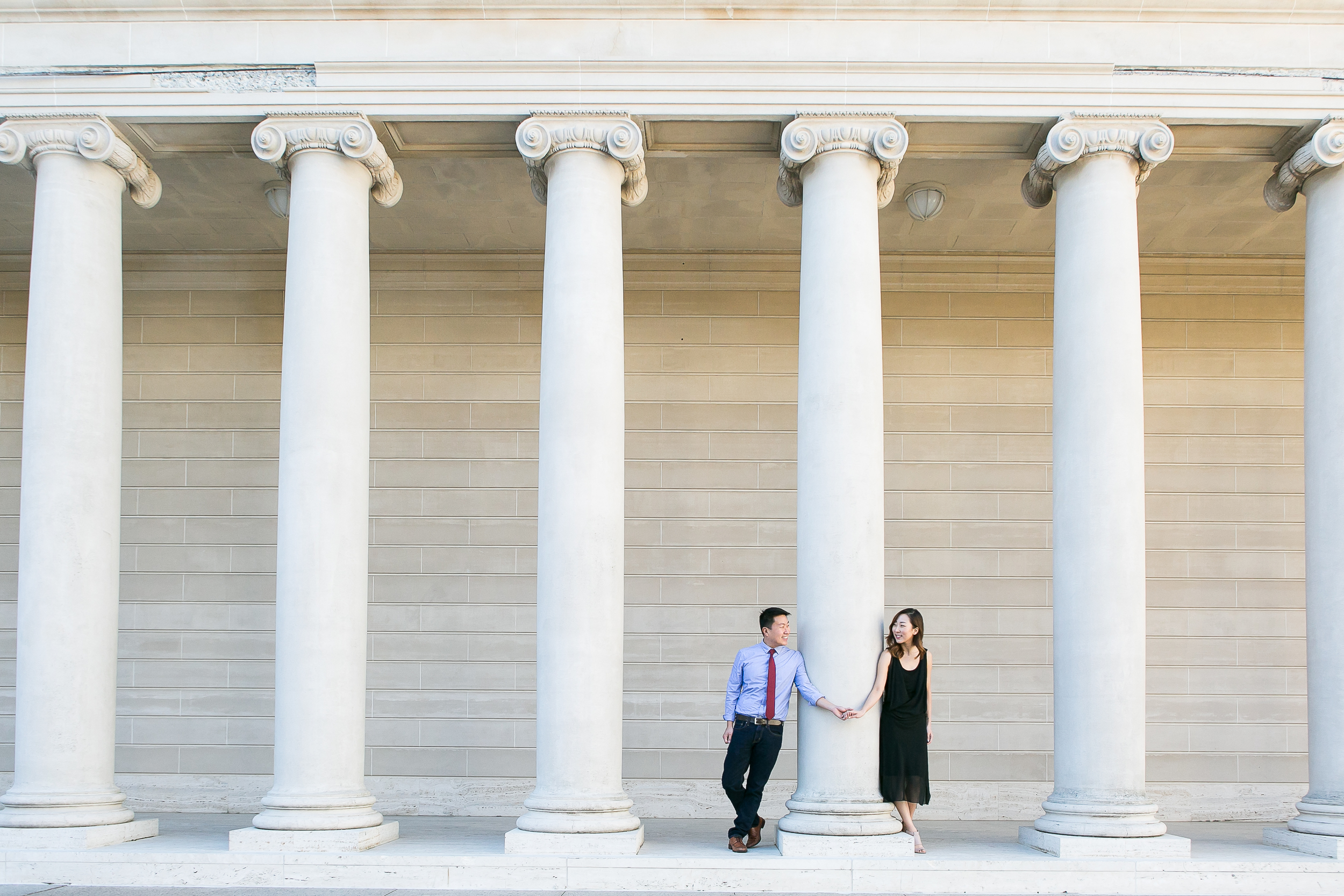 Legion of honor Engagement photo
