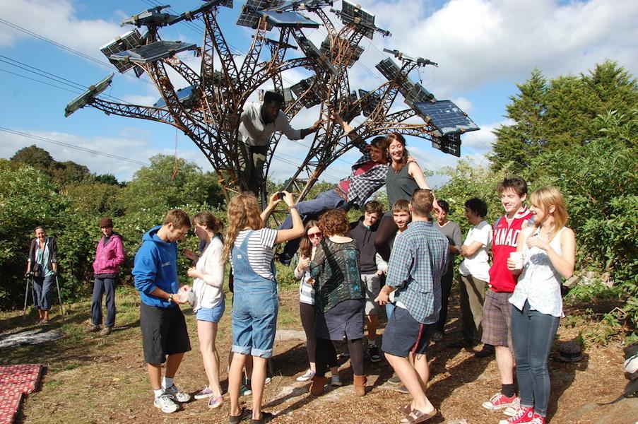 Brislington solar tree. Photo: Demand Energy Equality