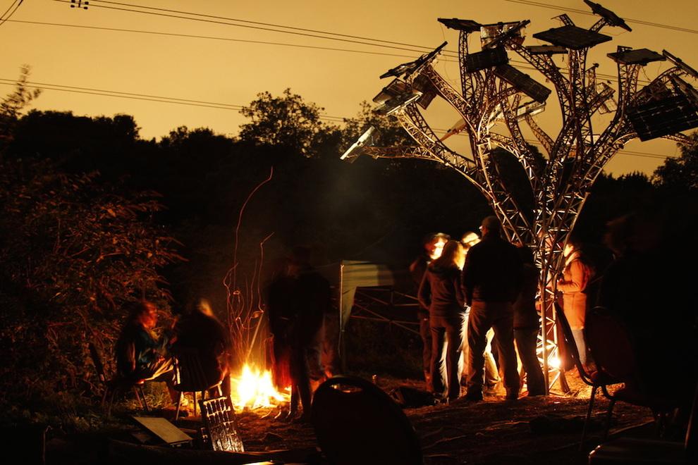 Brislington solar tree at night. Photo: Demand Energy Equality.