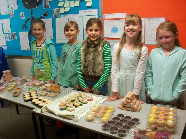 Grindleford primary school's green day and cake sale went down a storm!