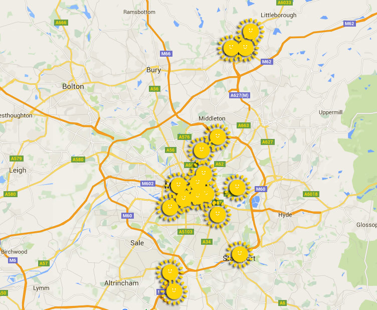 18 community organisations are raising money for solar roofs across Greater Manchester.