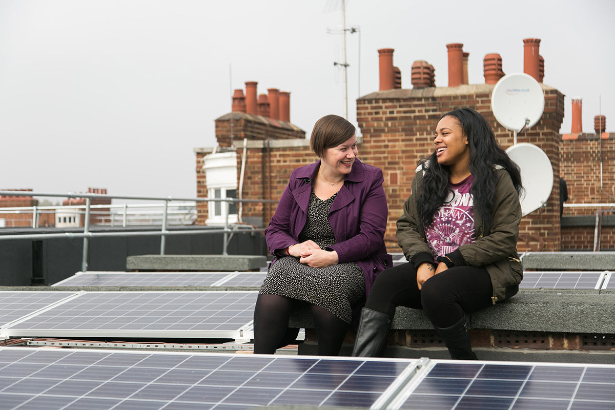 Bannister house community energy project, part of Repowering London. Photo Andy Aitchinson