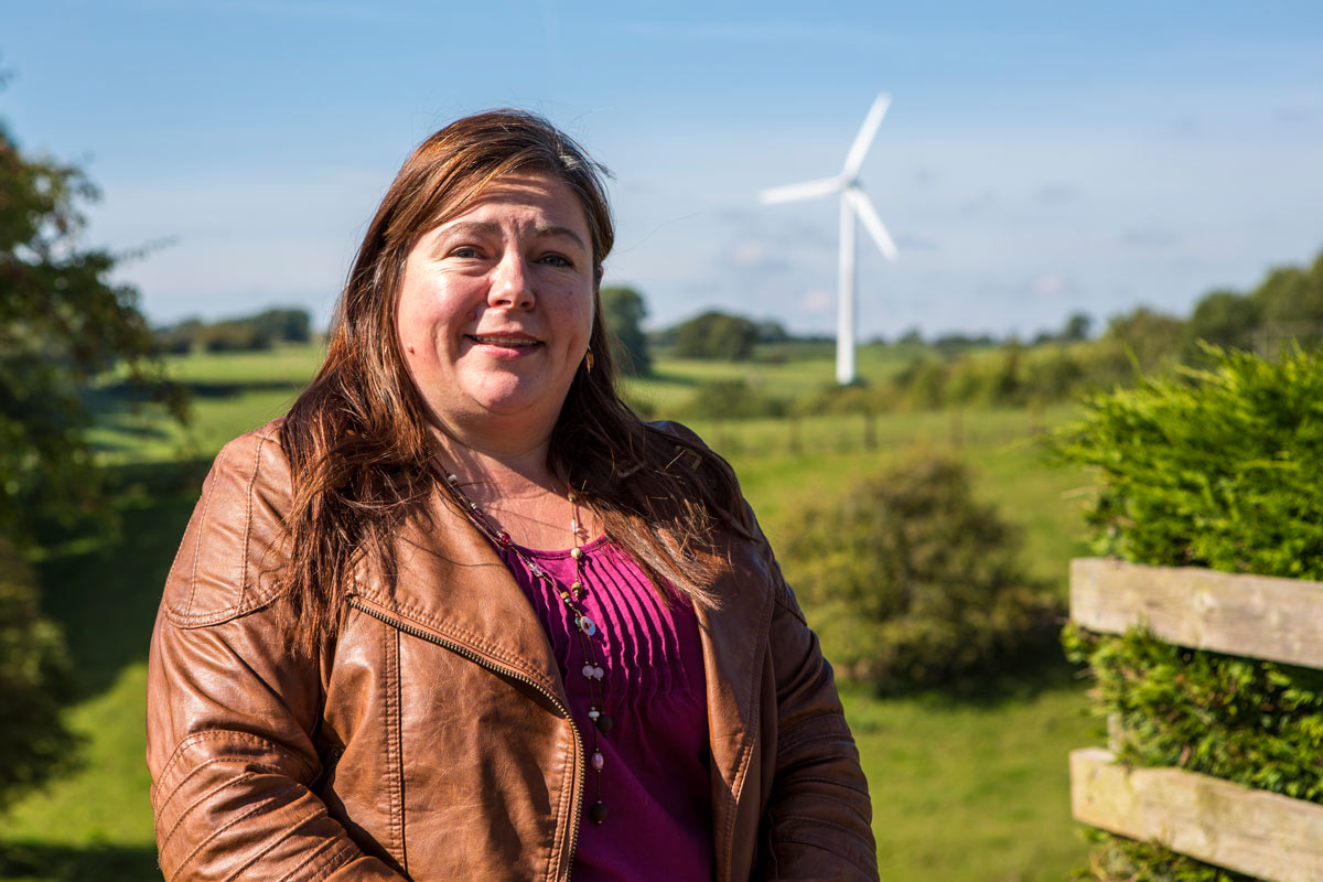 Resilience Centre community wind turbine