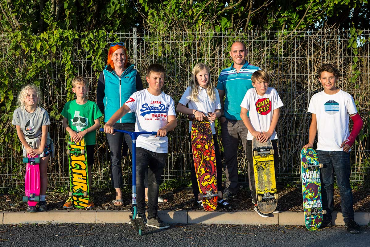 Skate park funded by Wadebridge Renewable Energy Network