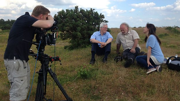 Filming Countryfile, photo BBC press office.