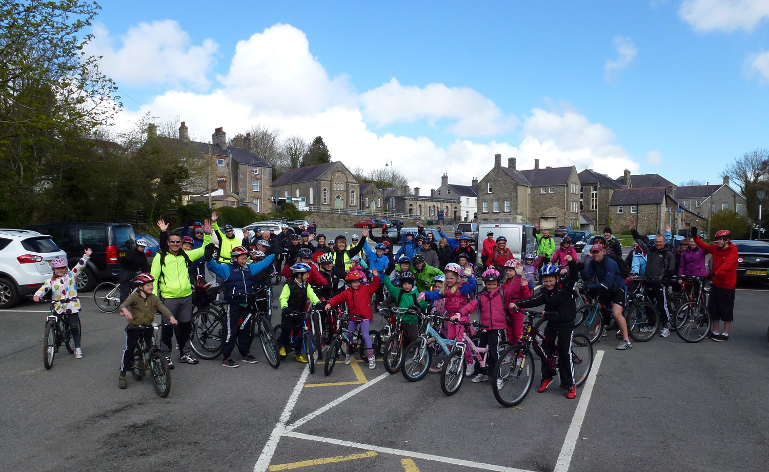 Photo: Llandegfan school's sponsored bike ride
