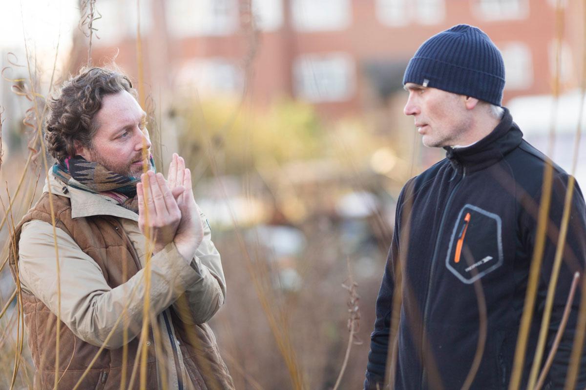 Hulme-Garden-Centre.-Mark-Frith-,-volunteer-co-ordinator-(left)-and-Roberty-Doherty-,-volunteer.-1200.jpg