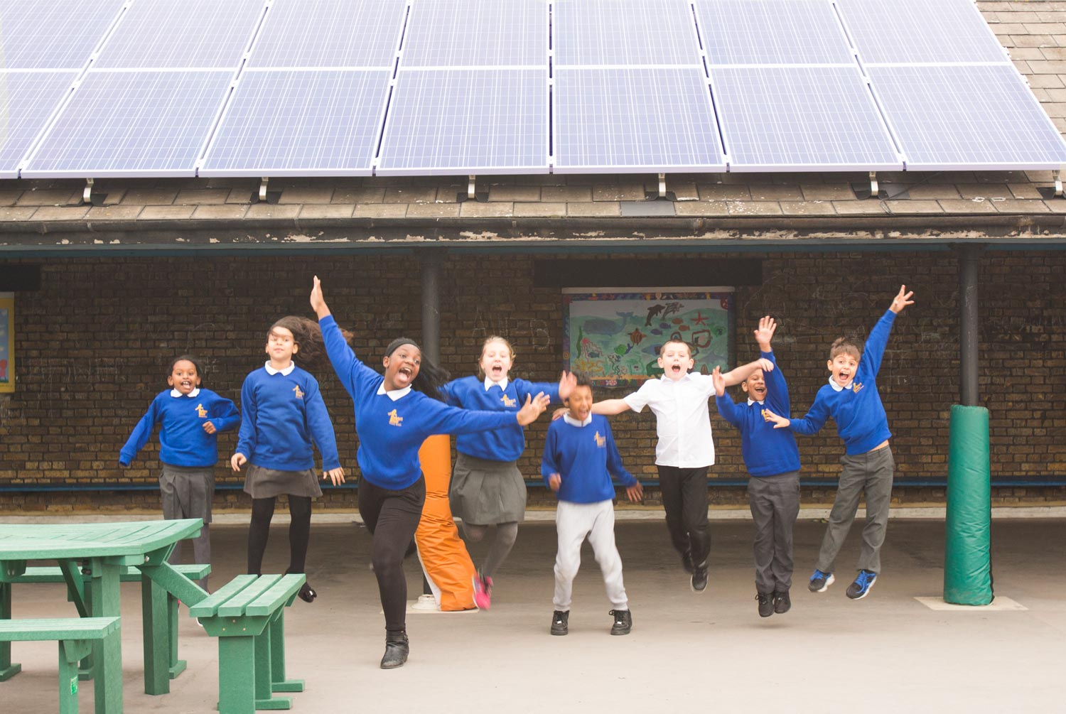 Robert Blair primary and their brand new solar panels