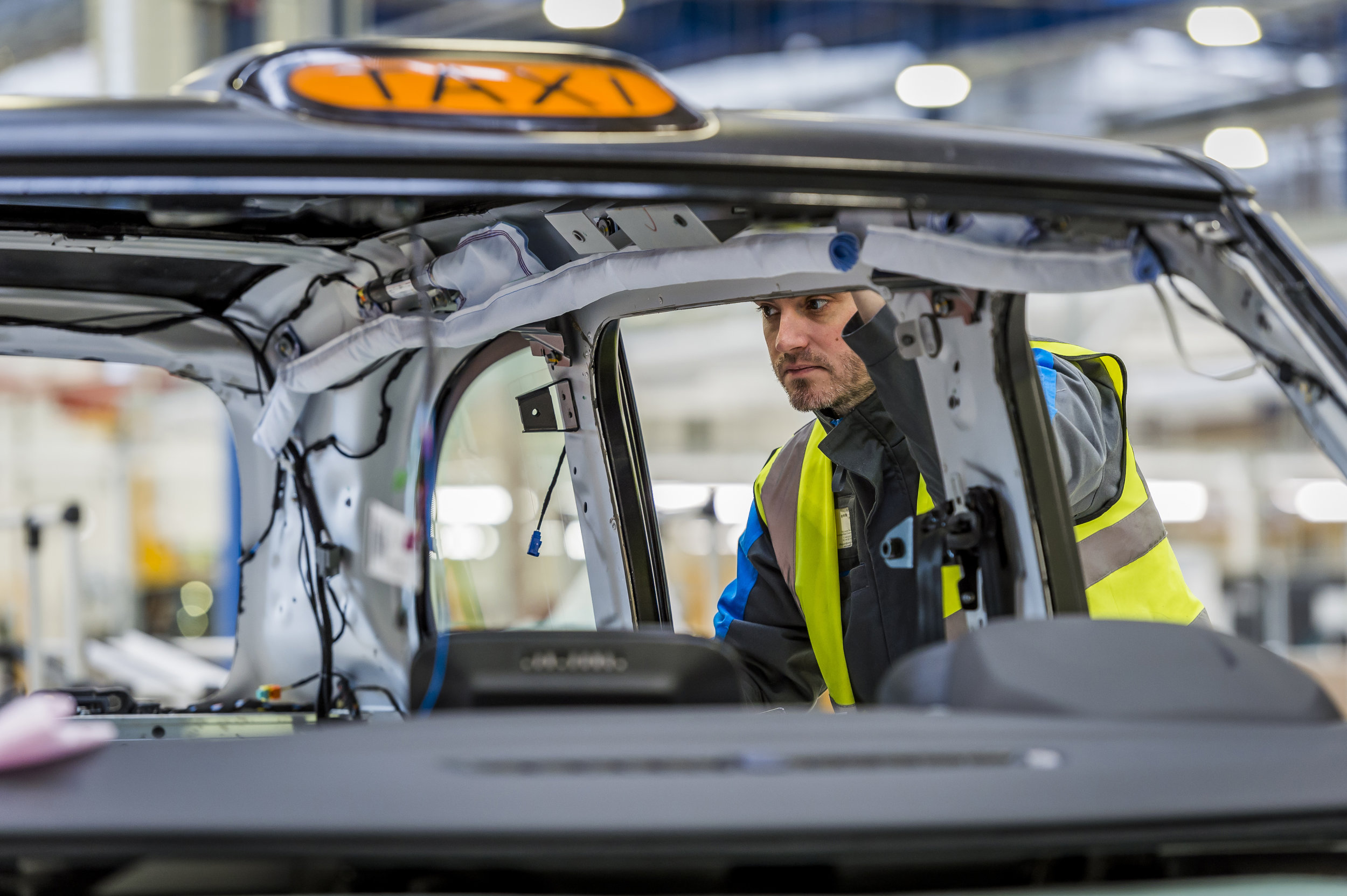 The company behind London's black cabs has just opened an electric taxi plant!