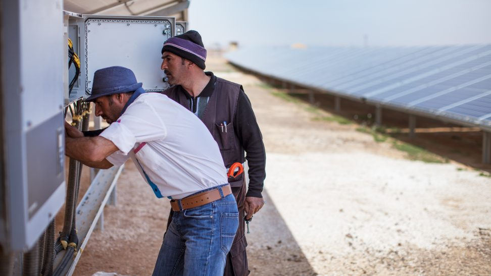 Azraq refugee camp is powered by a new solar park.
