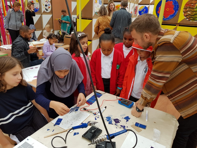 NKCE are working with schools to engage young people in solar-science experiments
