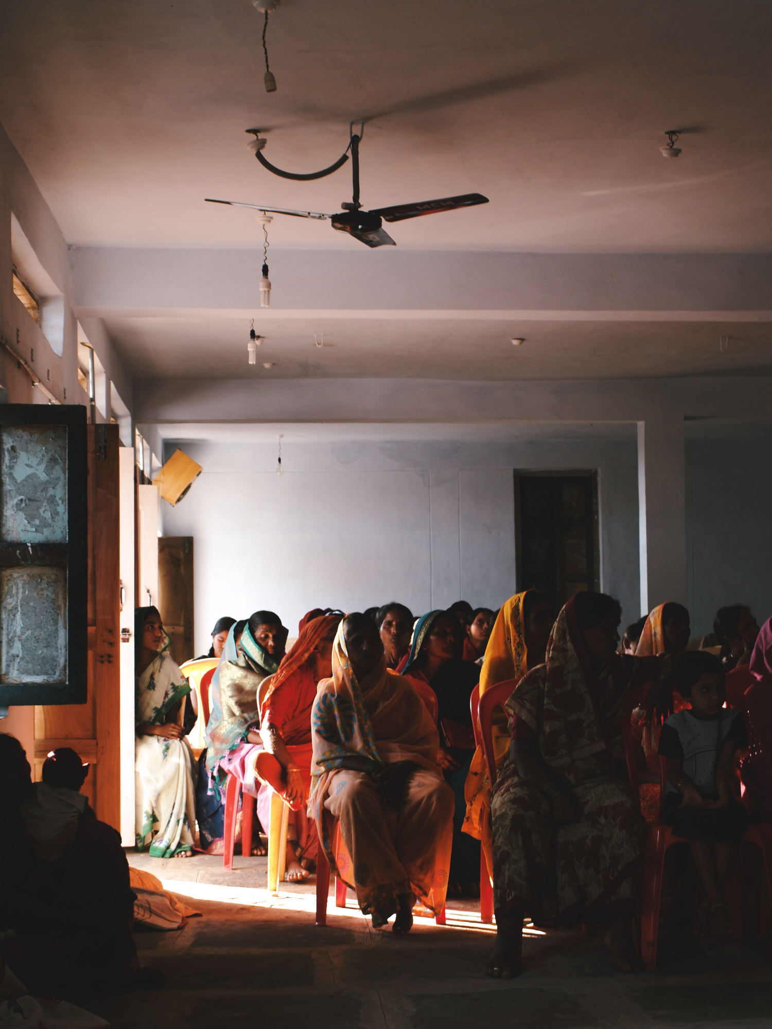 colourful indian women clothing meeting marpelly andhra pradesh india