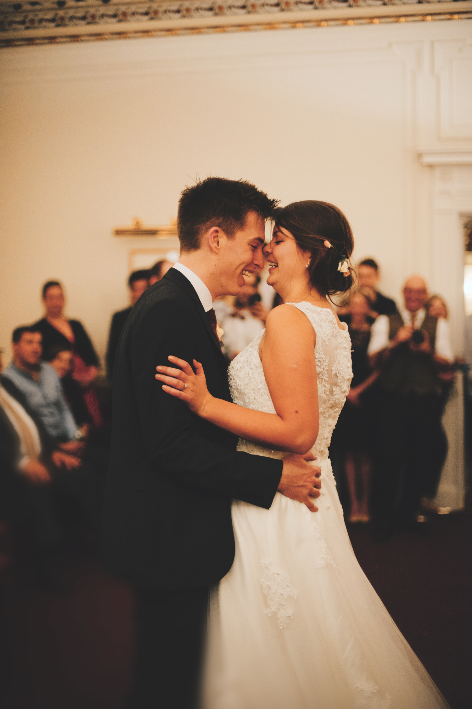 wedding couple dancing smiling rydal hall
