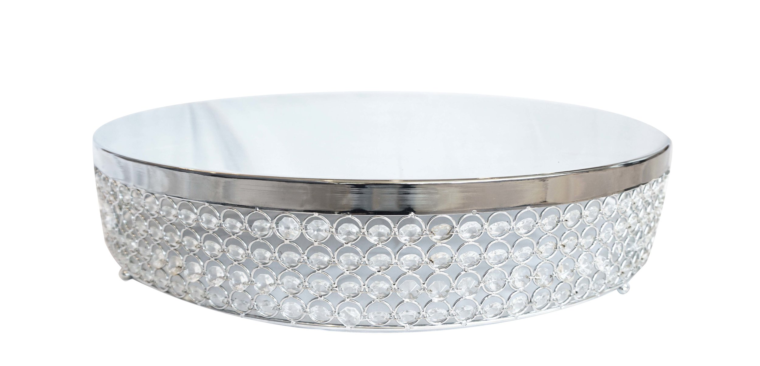Silver Crystal Cake Stand