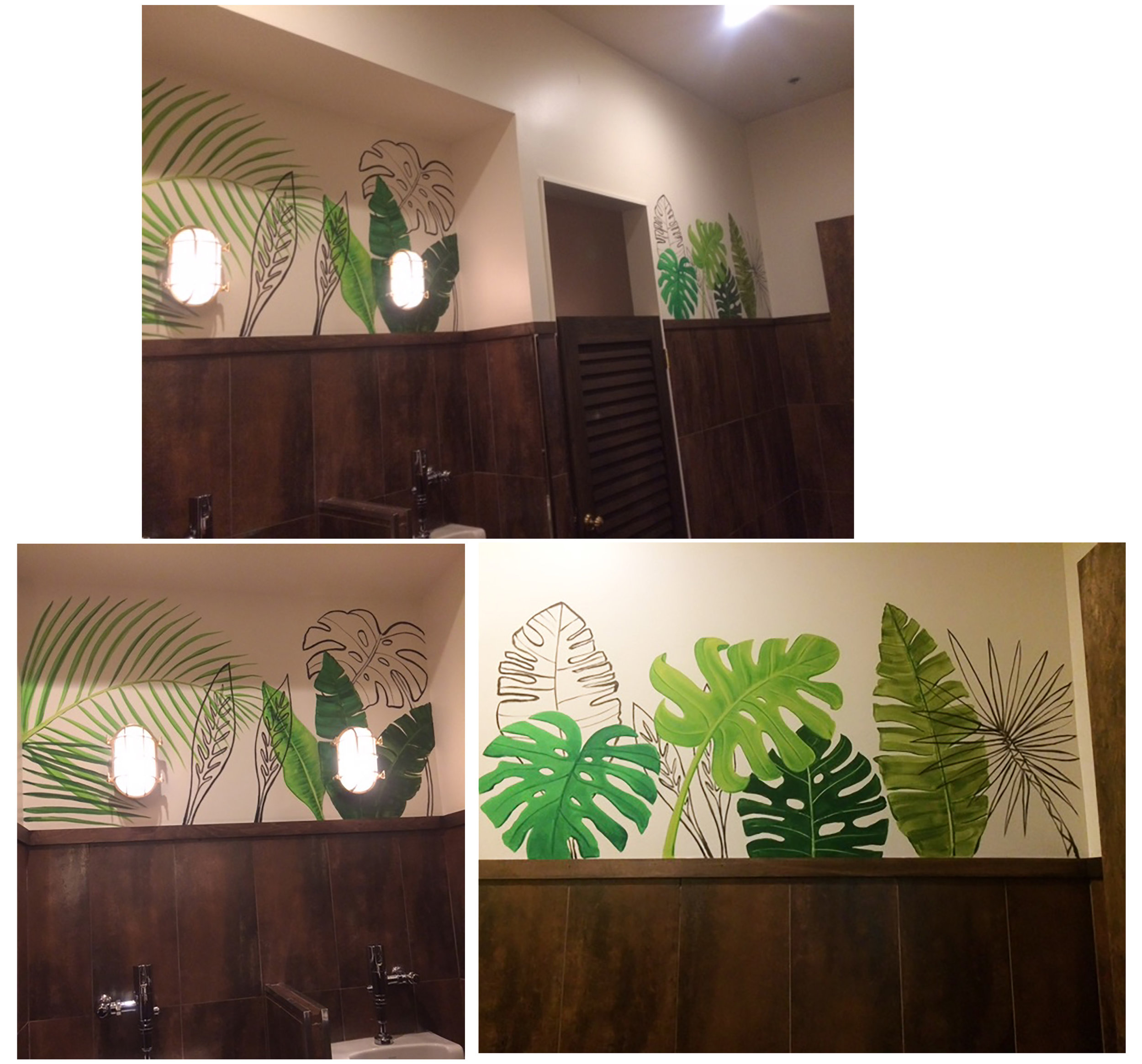 The final mural segments for the men's room.