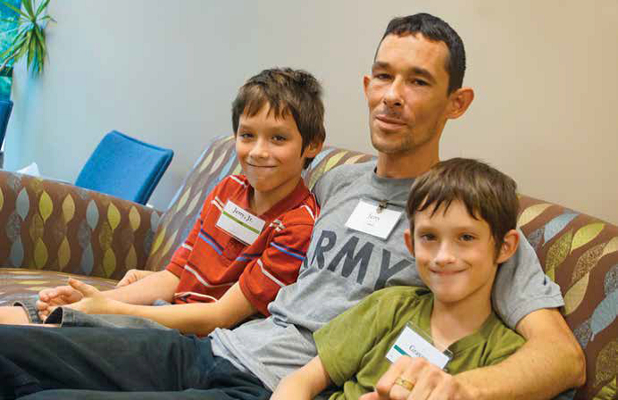 "Jerry brings his two sons, Jerry Jr. and Graves to Journeys. He has lost his wife, the boys' mother. Jerry has told others in his situation that Journeys is a good place to be. ""It helps my kids to be understood. When you know that your child is getting help, it helps you get a perspective on your own grief.""  Jerry has become a Journeys champion. He was not sure that it would do anything for his own grief, but he has changed his mind, and says, ""The more people who hear about it the better."" Jerry is working on that philosophy through social media venues. It may not be easy to talk to children about grief and dying. Journeys can help by providing a safe place, useful information, and the guidance of grief counselors to help kids and their families begin to heal"