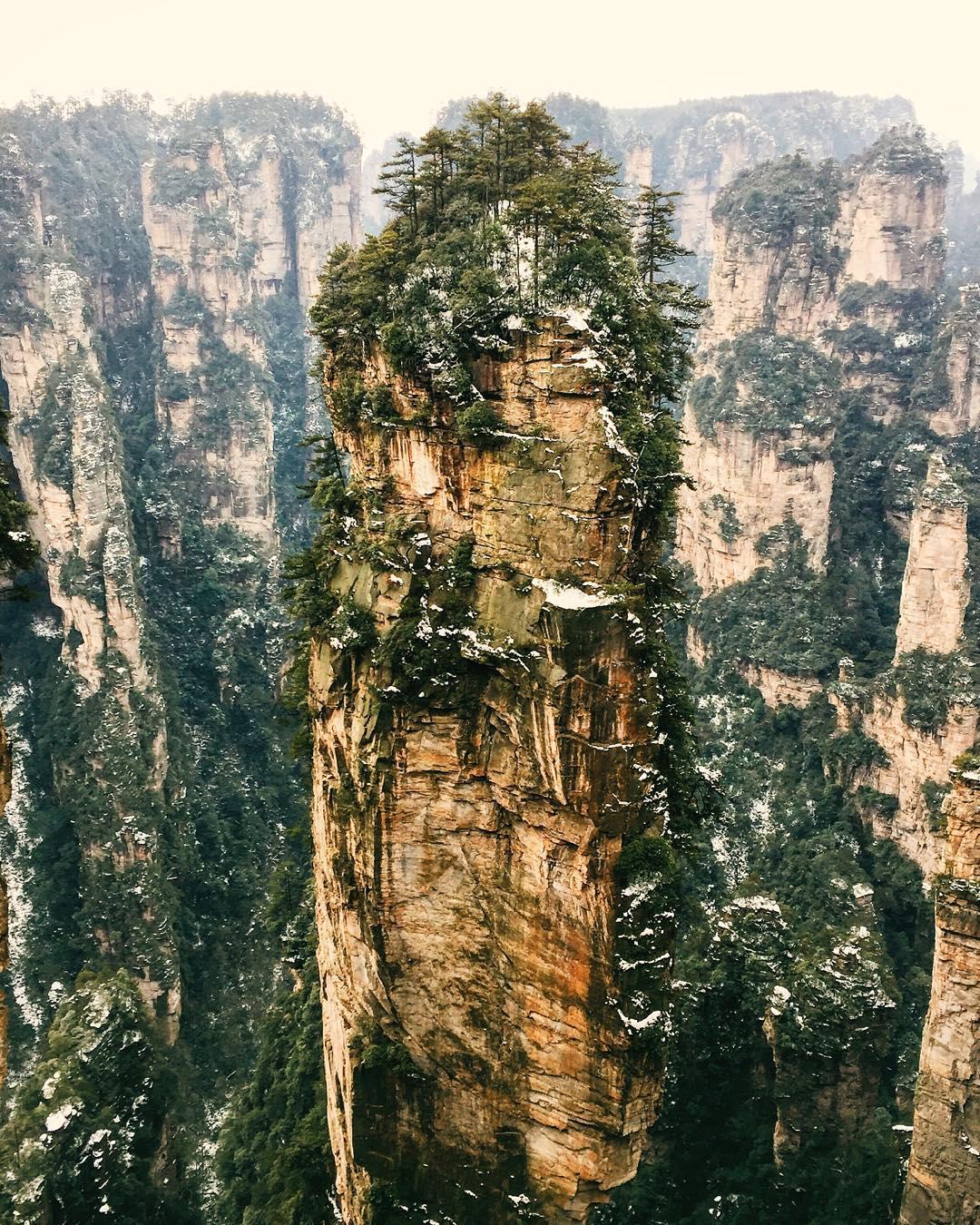 "The ""Avatar Mountains"" in Zhangjiajie, China"