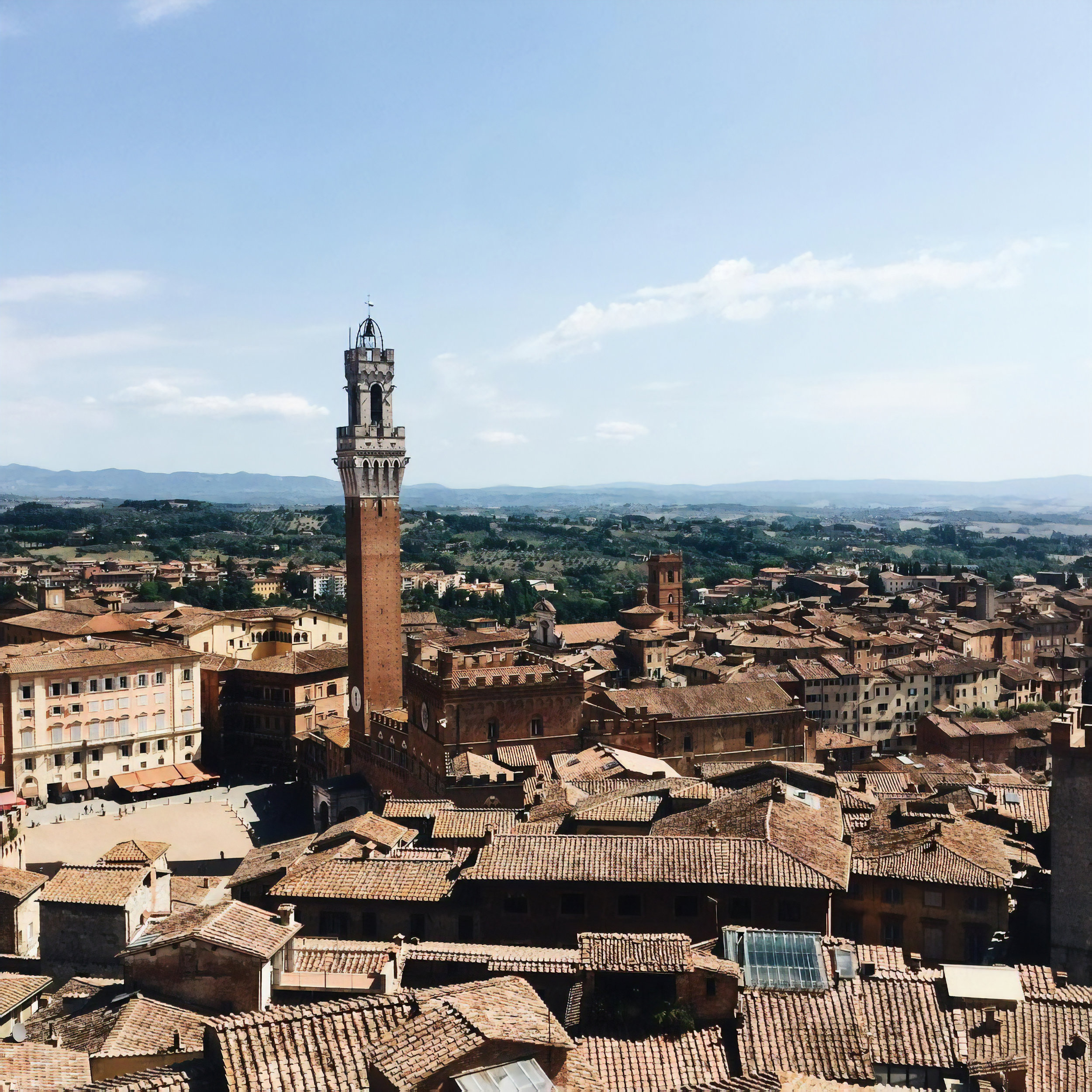 The view from the top of the Duomo in Siena, Italy